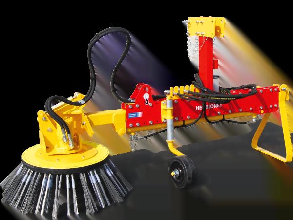 Brosse de desherbage sur tracteur : HERBIONET – T