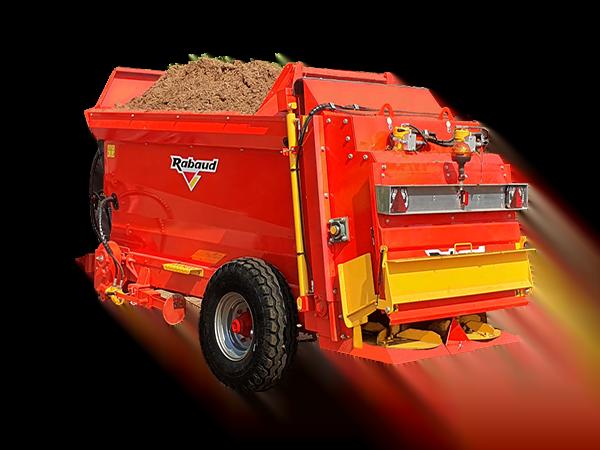 Épandeur de compost : FERTIDIS TRAINÉ 3000 L