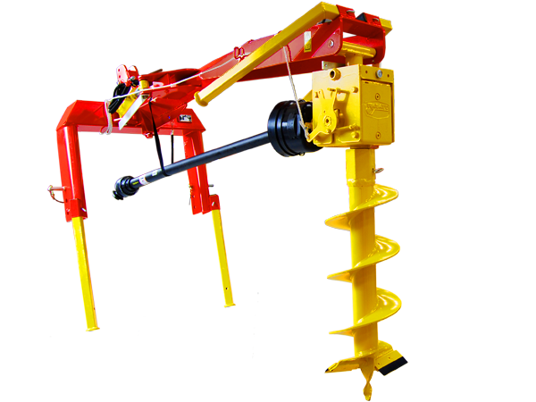 Mechanical hole diggers on TRACTOR