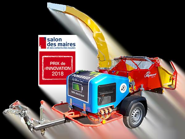 Broyeur de branches électrique sur batteries : XYLOCHIP 150E