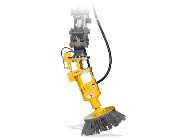 Weeding brush on excavator: HERBIONET PE