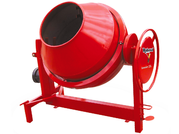 Concrete mixer with manual loading