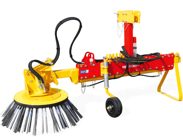 Weeding brush on tractor: HERBIONET – T