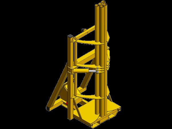 Wire netting unwinding machine on excavator: GRX MP